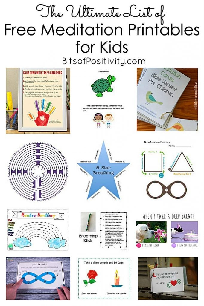 The Ultimate List Of Free Meditation Printables For Kids
