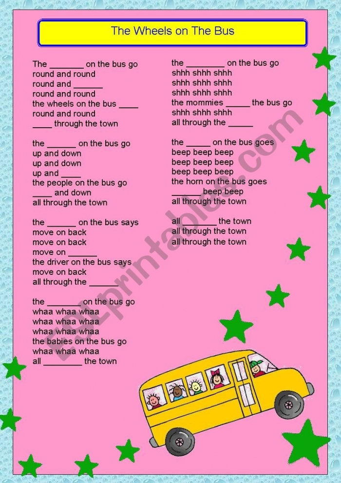 The Wheels On The Bus Song  With Solution