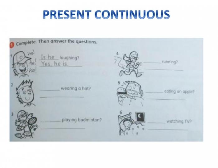 We Present Continuous