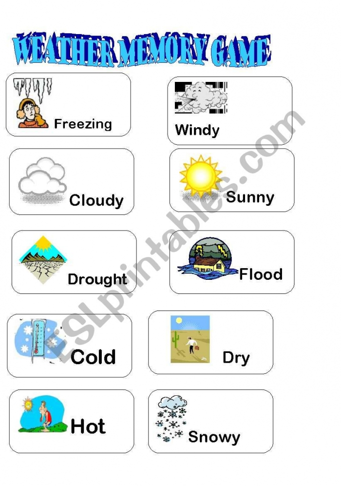 Weather Memory Game Part