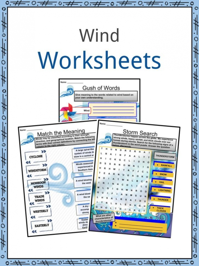 Wind Facts  Worksheets   Scientific History For Kids