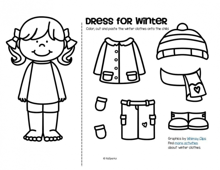 How To Dress For Winter Worksheets 99Worksheets