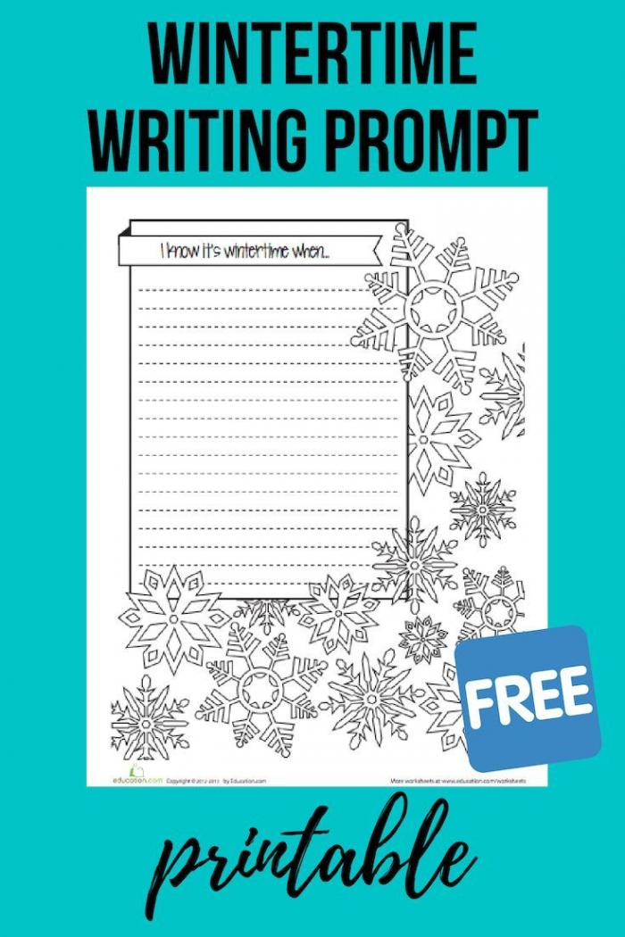 Wintertime Writing Prompt