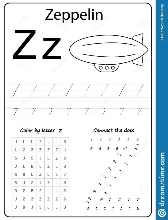Writing Letter Z Worksheet Writing A
