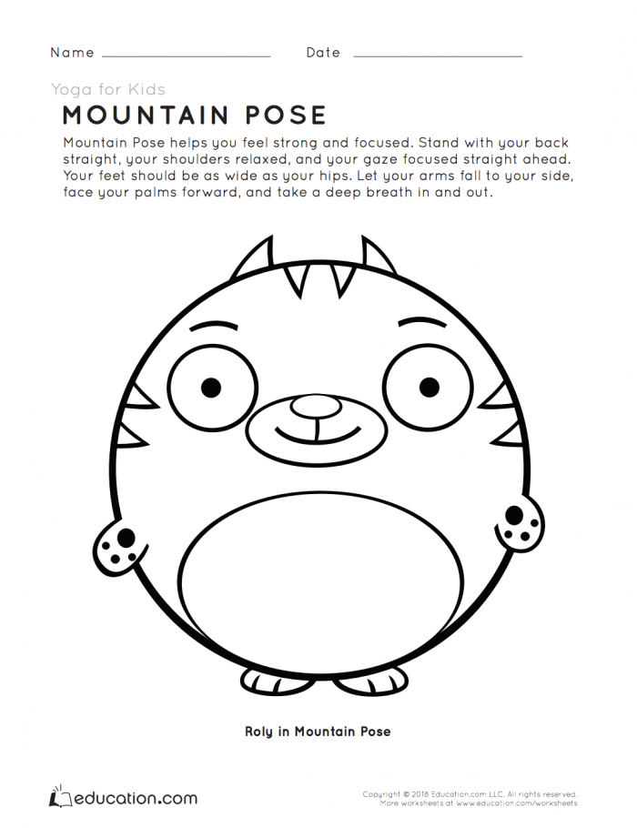 Yoga For Kids Mountain Pose
