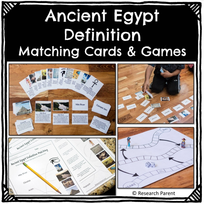 Ancient Egypt Definition Matching Cards And Games Product
