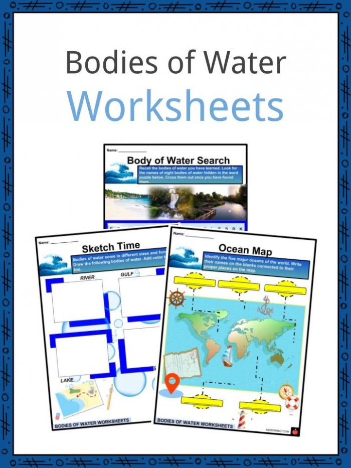 Bodies Of Water Facts  Worksheets  Rivers And Streams For Kids