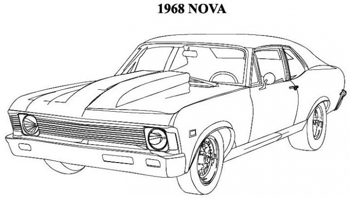 Classic Muscle Car Coloring Cars Truck Fun Addition Worksheets
