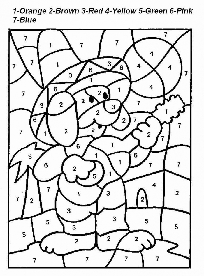 Color By Number Advanced Coloring Pages New Advanced Color By
