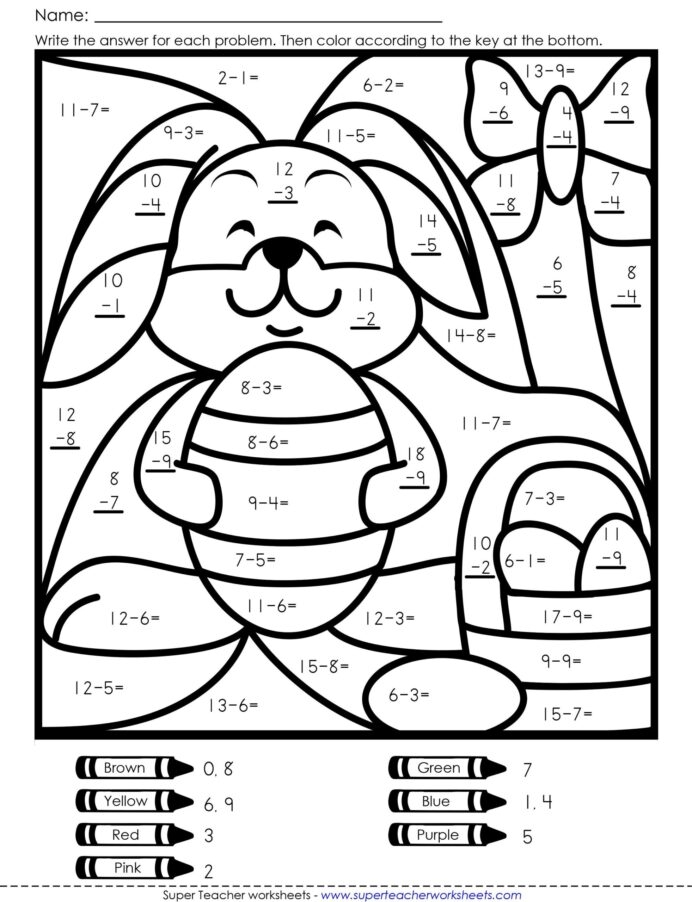 Coloring Book Easter Math Free Worksheets Th Th Grade Th Grade