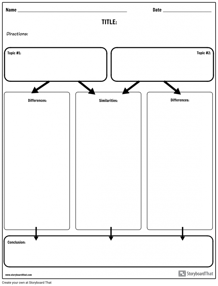 Compare Contrast Column Chart Storyboard By Worksheet