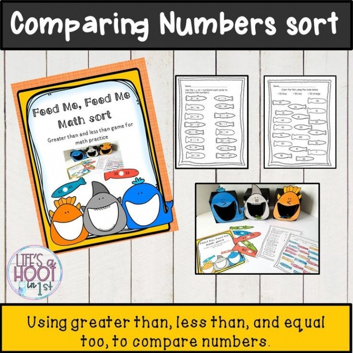 Comparing Numbers Greater Than  Less Than  Worksheets And Sort