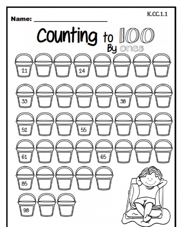 Counting To  By Ones Worksheet