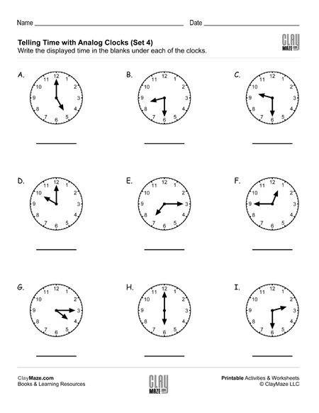 Date   Time  Childrens Educational Workbooks  Books And Free