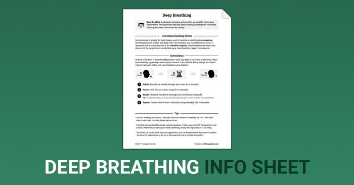 Deep Breathing Worksheet