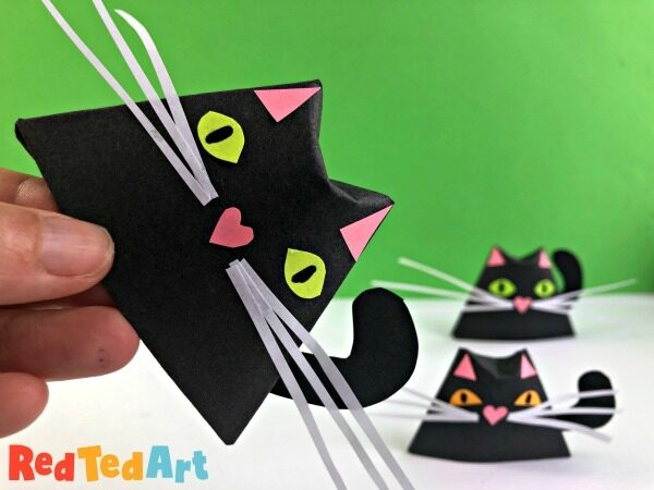 Easy Paper Cat Origami Cup For Halloween