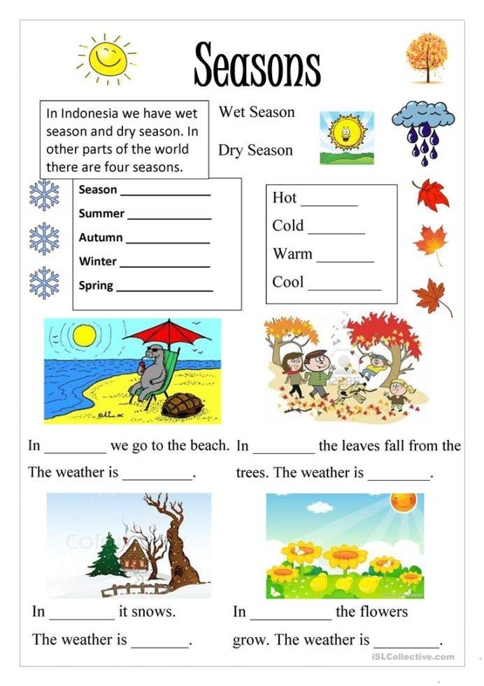 English Esl Seasons Worksheets Most Downloaded Results Free Season