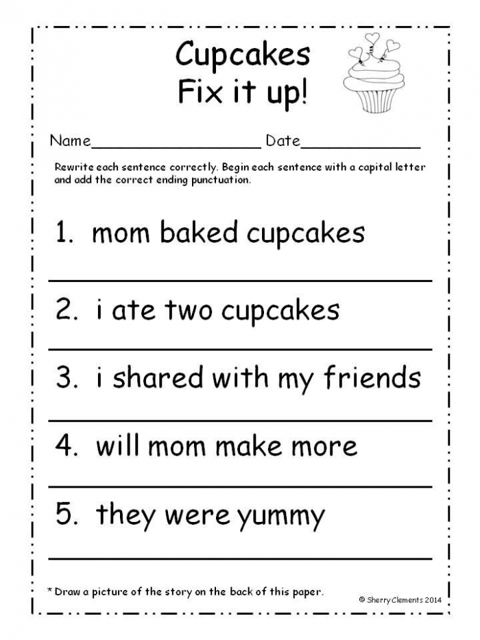 February Fix It Up Sentences
