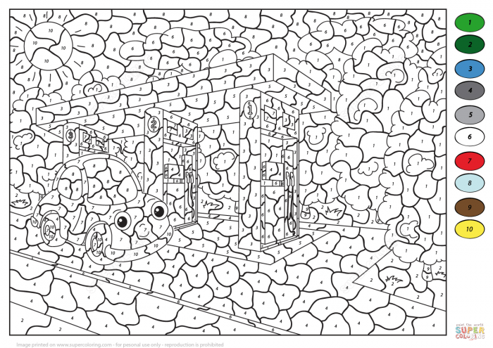 Free Advanced Color By Number Coloring Pages Download Clip For