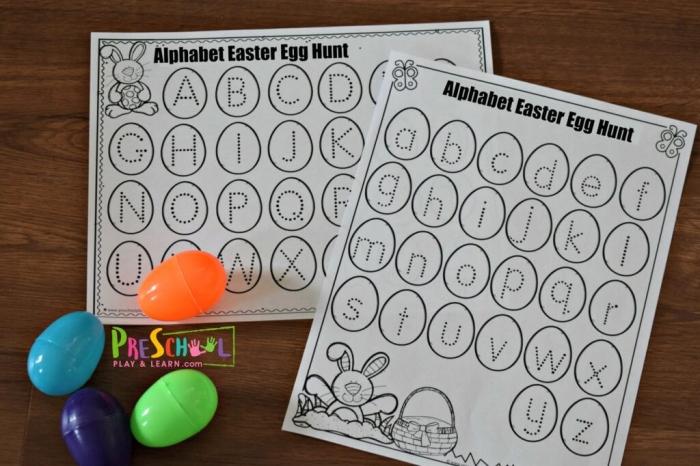 Free Alphabet Easter Egg Hunt