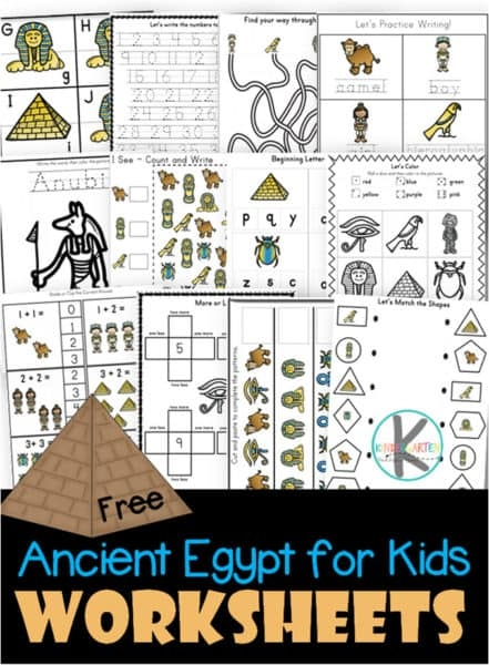 Free Ancient Egypt Printable Worksheets