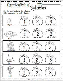 Syllable Practice Worksheet