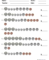 free printable customizable counting coins worksheet 9