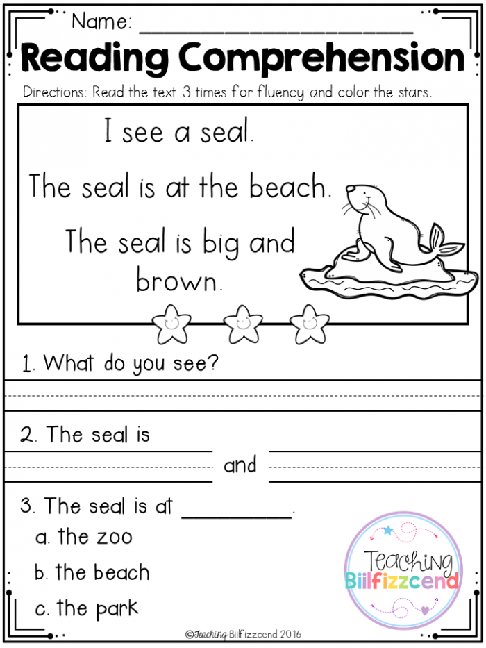 Reading Comprehension: What Do You Think? Worksheets 99Worksheets