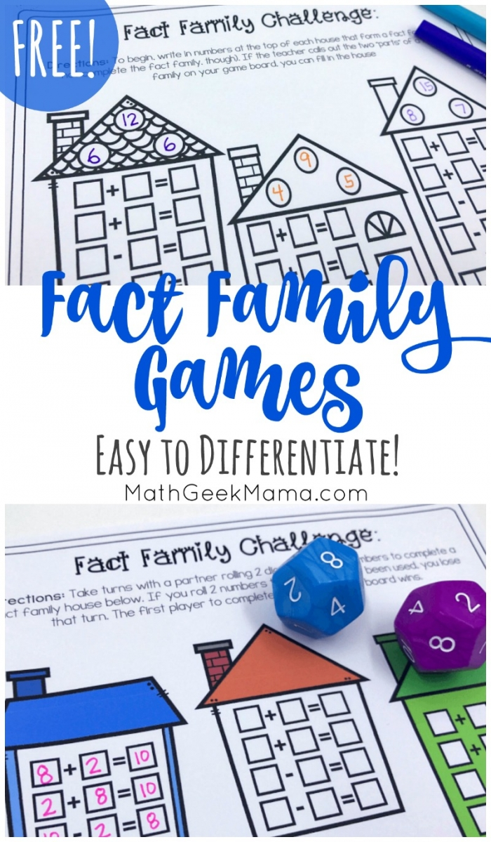 Free Simple Fact Family Games For Kids