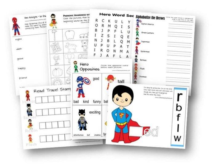 Free Superhero Worksheets Spiderman Preschool Super Hero