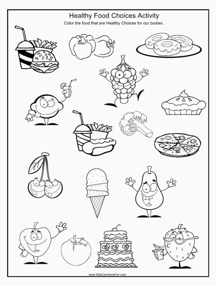 Go Foods Coloring Healthy Food Pictures Eating Worksheets Science
