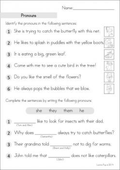 Pronoun Practice #2