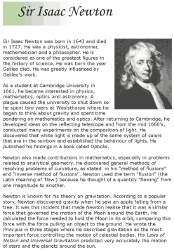 Isaac Newton Biography