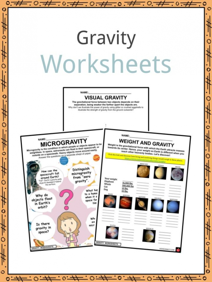 Gravity Facts   Worksheets For Kids