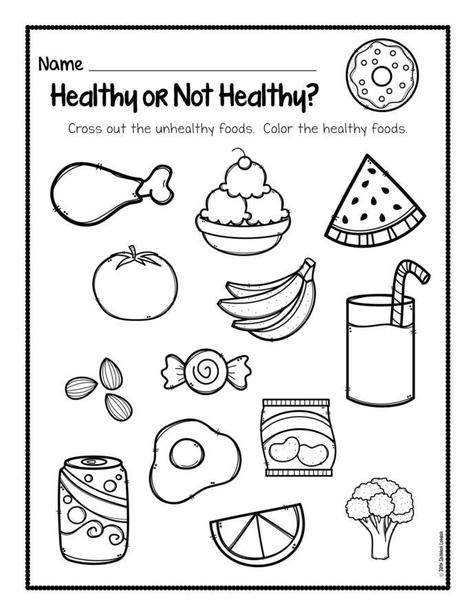 Healthy Foods Worksheet Free Habits For Kids Eating Worksheets