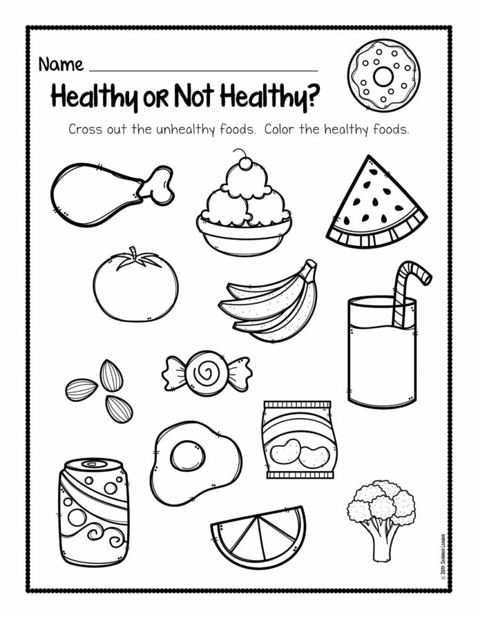 Healthy Eating Color The Food Pyramid Worksheets 99worksheets