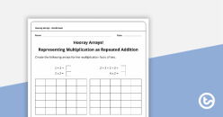 Hooray For Arrays: Repeated Addition And Multiplication