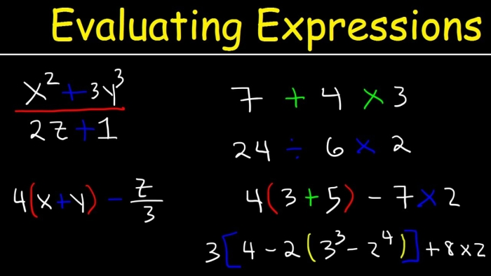 How To Evaluate Expressions With Variables Using Order Of