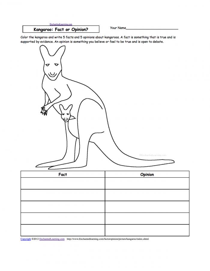 Kangaroo Theme Page Enchantedlearningcom