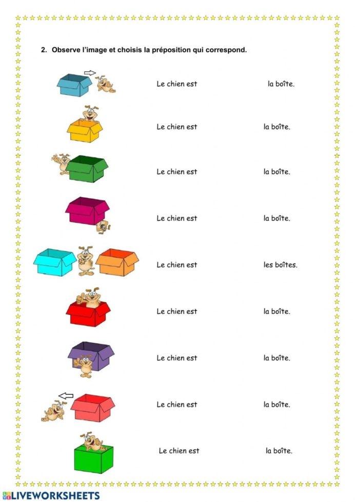 Les Prpositions Lieu Interactive Worksheet Prepositions