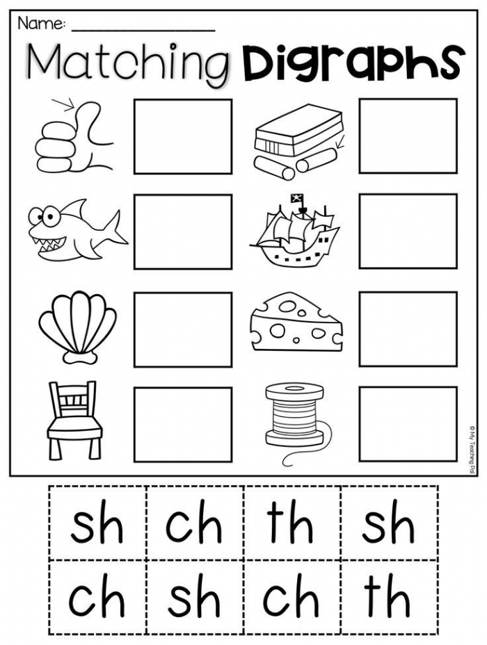 Matching Digraphs Worksheet For Sh  Ch  Th This Packet Is Jammed