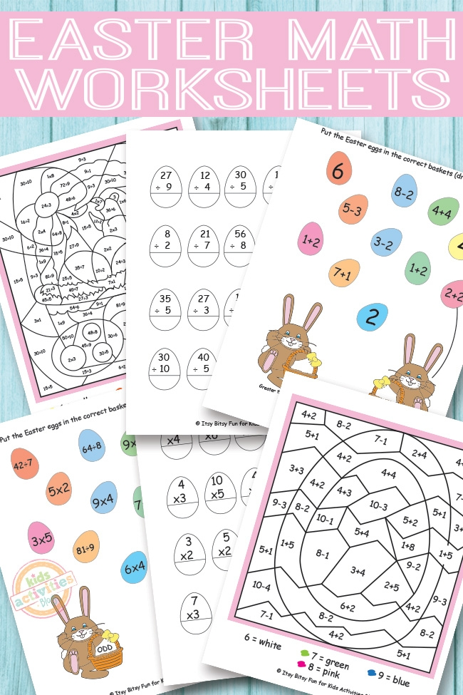 Math Multiplication Worksheets Grade  Easter Maths Worksheets