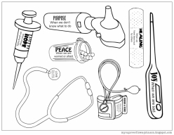 Doctor Coloring Page: Tools