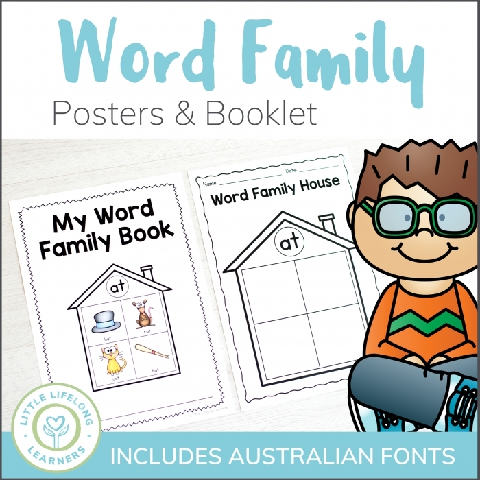 My Word Family Book At Words Worksheets