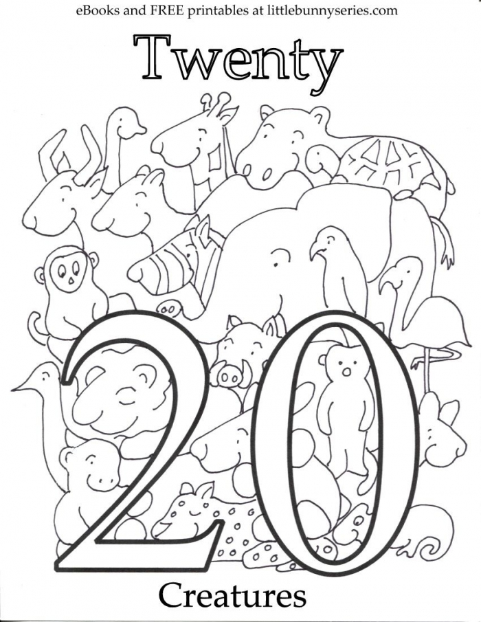 Number  Coloring Page Pdf