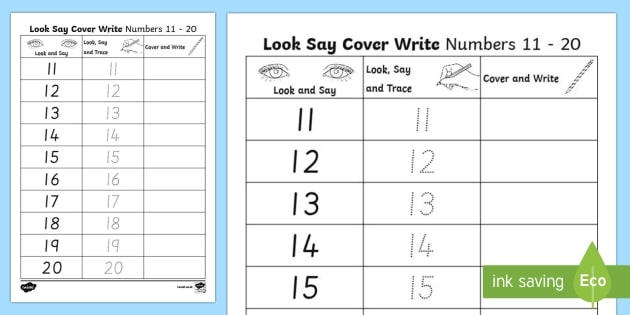 Number Formation To Look Trace And Write Worksheet Learning
