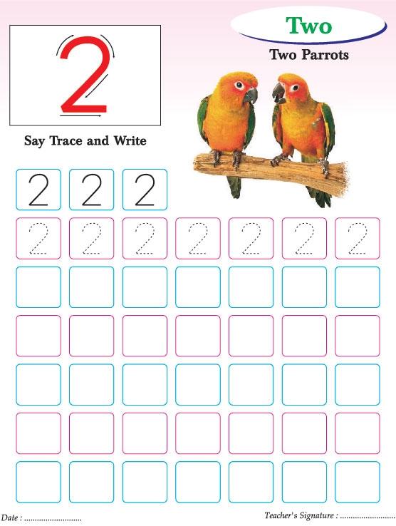 Numbers Writing Practice Worksheet