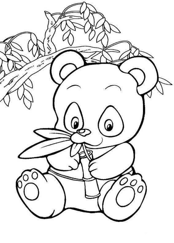 Panda Coloring Best For Kids Cute Baby Digit Addition Worksheets