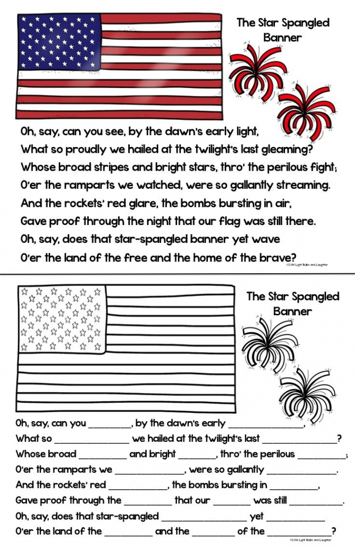 Pin On Teaching About The Us Flag   National Anthem