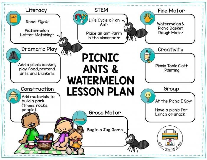 Pinic Game Worksheet